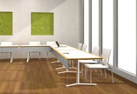Nevins Green Solutions Collection Of Meeting And Training Tables Features  100 Percent Recycled Materials, FSC Certified Wood And Greenguard Certified  ...