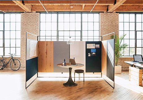 West Elm Workspace Frame Screen System Contract Design