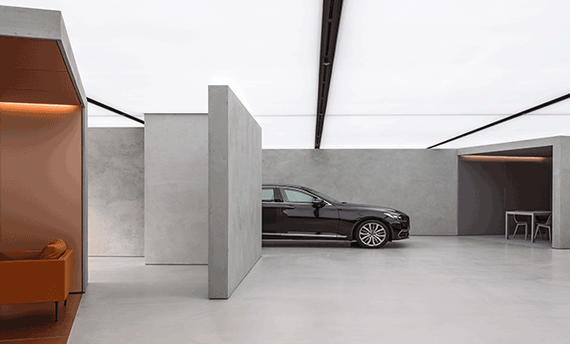 oma crafts new hyundai genesis showroom contract design contract magazine