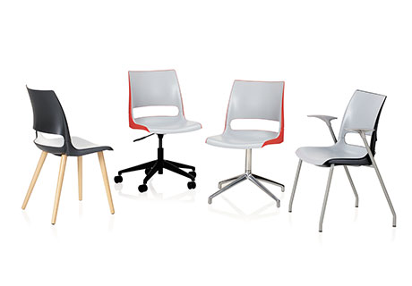 ... Offers Seating Options With Hip Articulation And Optional Two Tone Poly  Shells, Which Are Available In Custom Colors. Doni Includes Stackable Chairs  ...