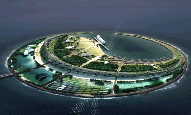 Yacht Island Design ds+r to design artificial island in the south china sea | contract