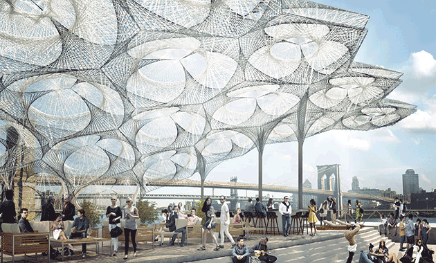 Achim Menges to Install Canopy Atop Pier 17 in New York