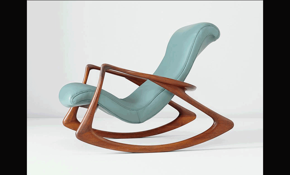 Contour Rocking Chair Designed By Kagan In 1952.