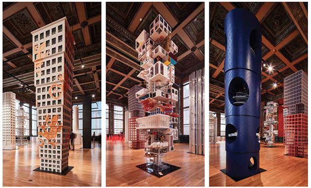 Chicago Architecture Biennial Installation Reprises Tribune Tower Design Competition