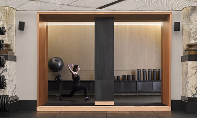 A Traditional Bank Interior Is Transformed Into A Modern Temple Of Fitness