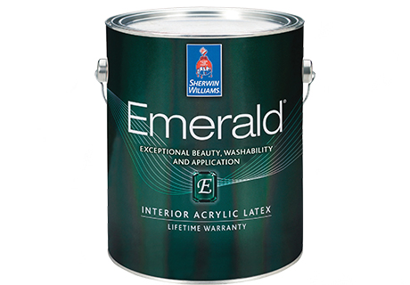 Sherwin Williamsu0027 Emerald Interior Acrylic Latex Paint Offers A Truly Flat  Finish That Hides Minor Drywall Imperfections And Is Washable.