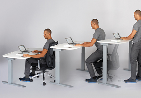 The M1 Is A Height Adjule Customizable Smart Desk Operated By An Inset Touch Screen And Sensor That Monitors User S Every Move