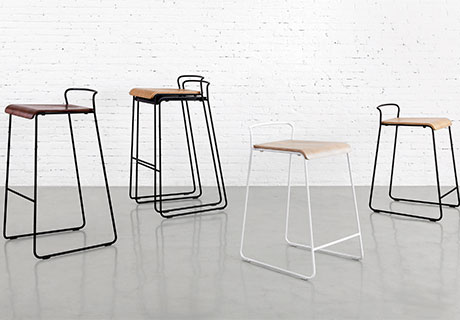 two new dining collections are transit and sling both include chairs as well as counter and barheight stools and sling offers a lounge option